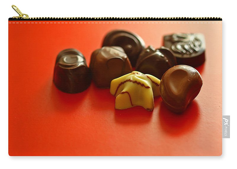 Still Life Carry-all Pouch featuring the photograph Chocolate Delight by Evelina Kremsdorf