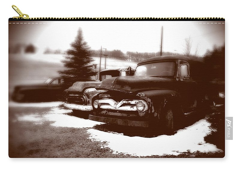 Old Cars Carry-all Pouch featuring the photograph Chocolate Ghosts by Jean Macaluso