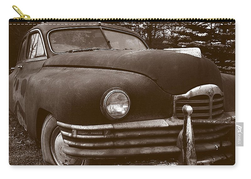 Old Car Carry-all Pouch featuring the photograph Chocolate Moose by Jean Macaluso