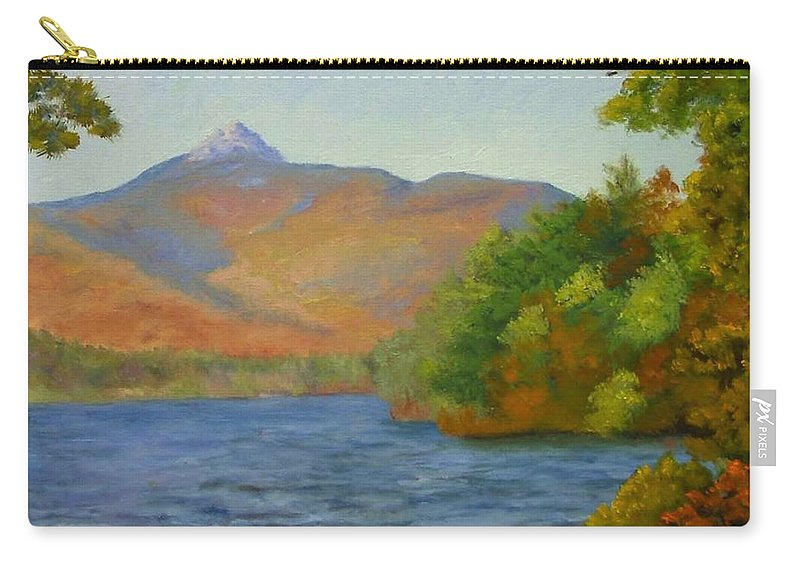 Mount Chocorua And Chocorua Lake Carry-all Pouch featuring the painting Chocorua by Sharon E Allen