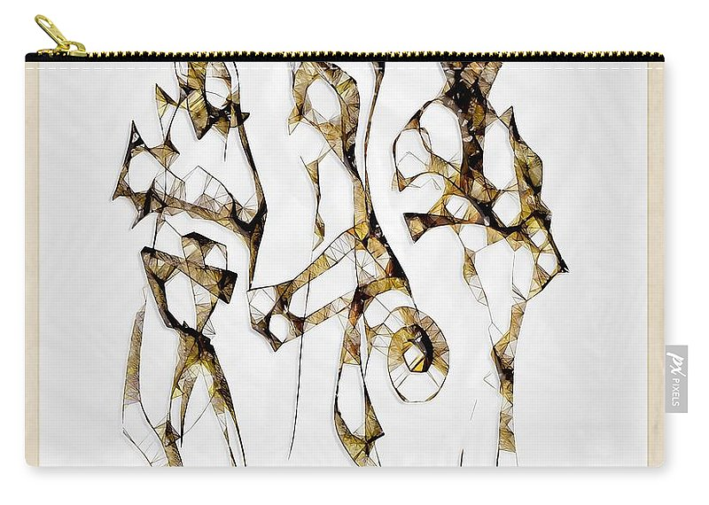 Abstraction Carry-all Pouch featuring the digital art Choice 3634 by Marek Lutek