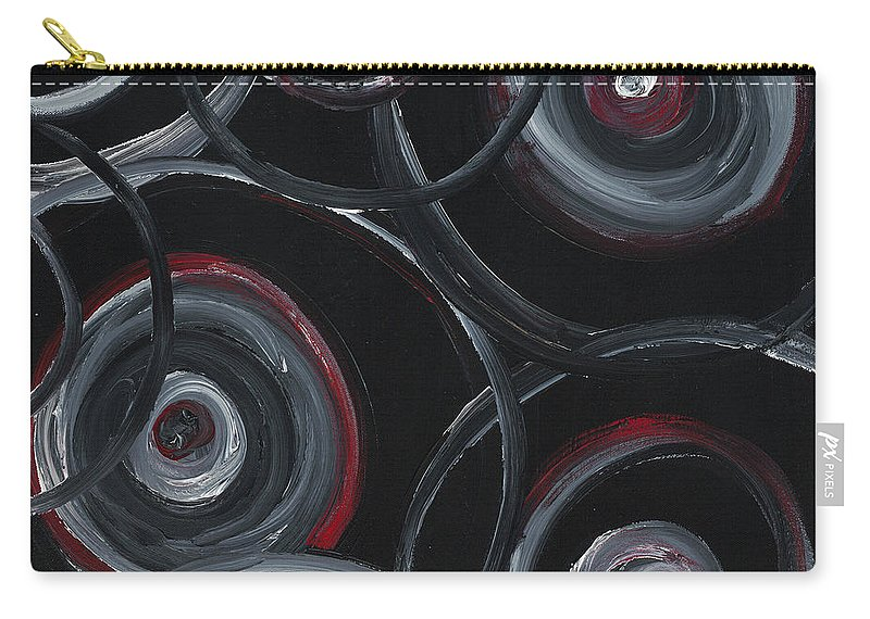 Circles Carry-all Pouch featuring the painting Choices In Black by Nadine Rippelmeyer