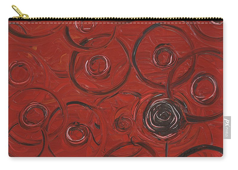 Red Carry-all Pouch featuring the painting Choices In Red by Nadine Rippelmeyer
