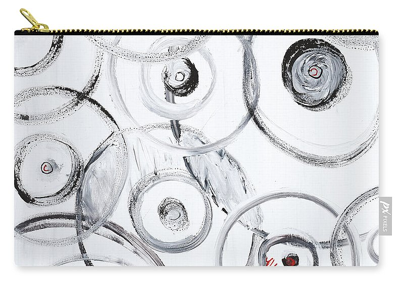 Circles Carry-all Pouch featuring the painting Choices In White by Nadine Rippelmeyer