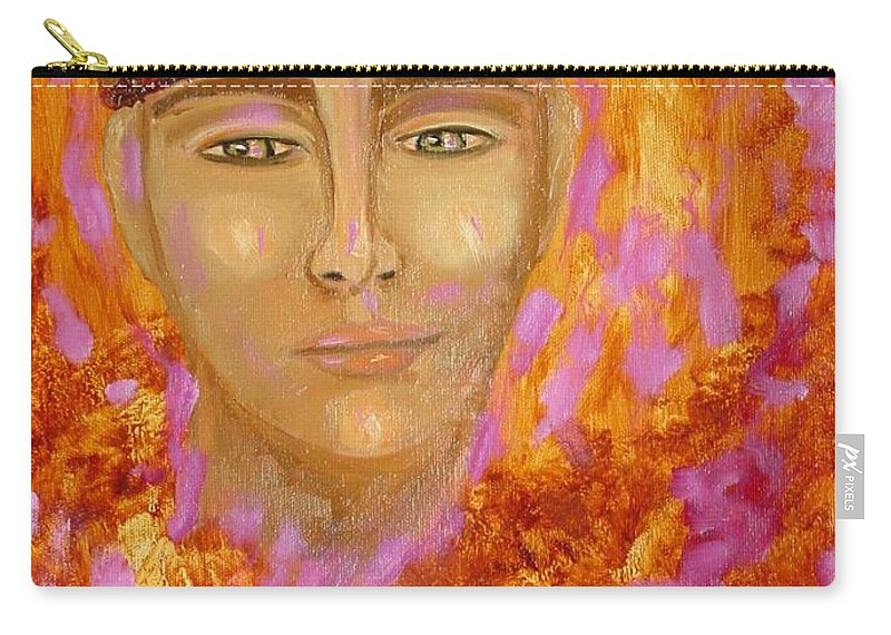 Portrait Carry-all Pouch featuring the painting Choices by Laurie Morgan