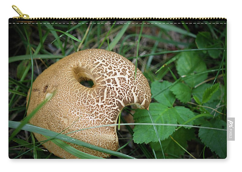 Fungus Carry-all Pouch featuring the photograph Chomp by Teresa Mucha