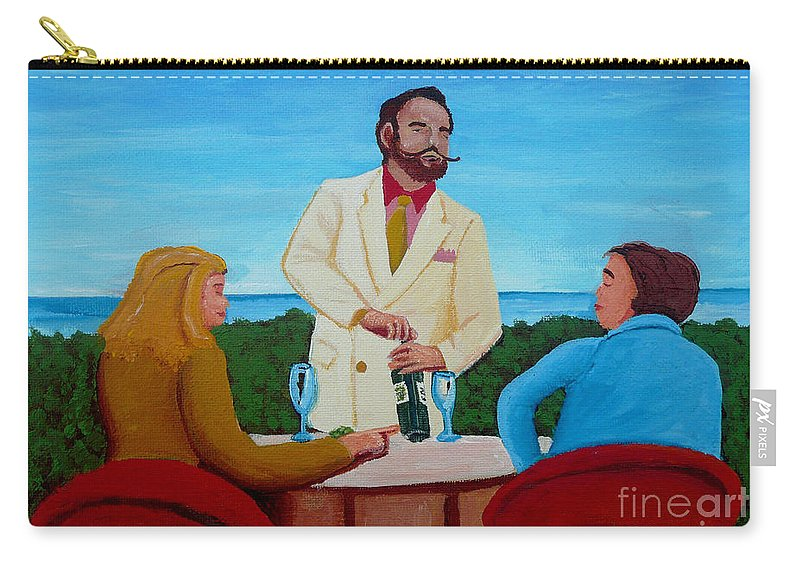 Wine Carry-all Pouch featuring the painting Choosing The Wine by Anthony Dunphy