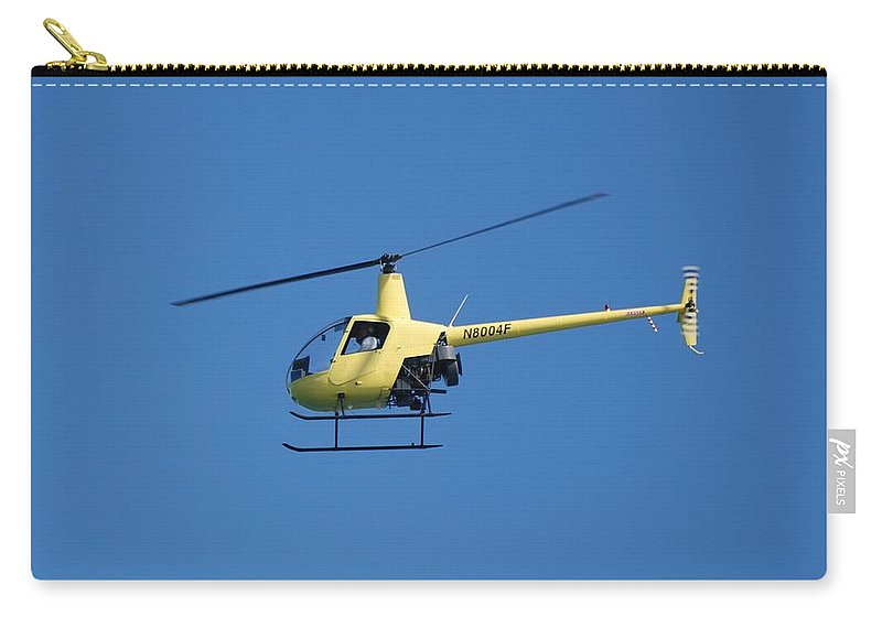 Yellow Carry-all Pouch featuring the photograph Chopper by Rob Hans