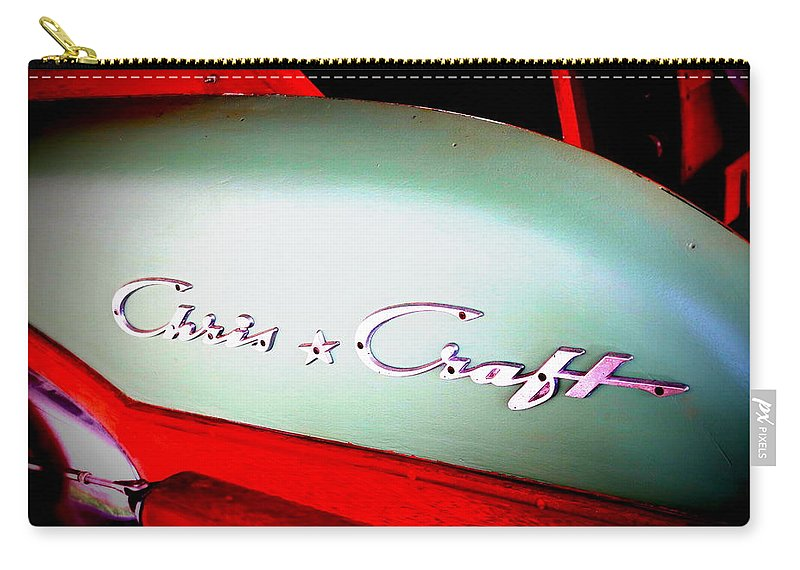 1958 Carry-all Pouch featuring the photograph Chris Craft Illusion by Dawn Stone