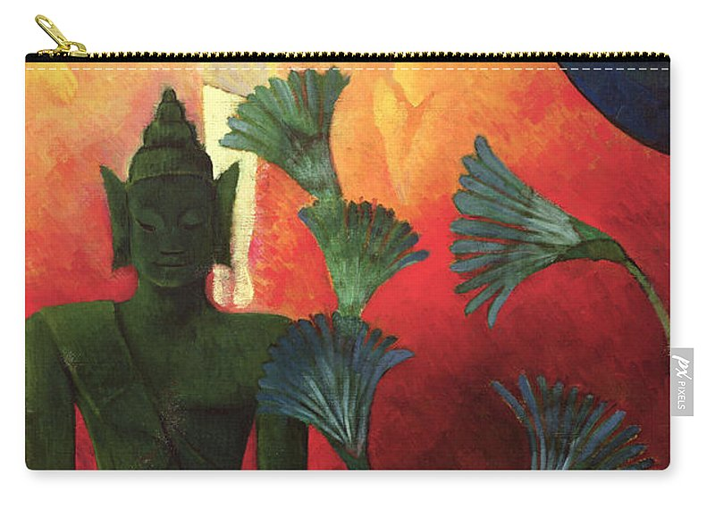 Christ Carry-all Pouch featuring the painting Christ And Buddha by Paul Ranson