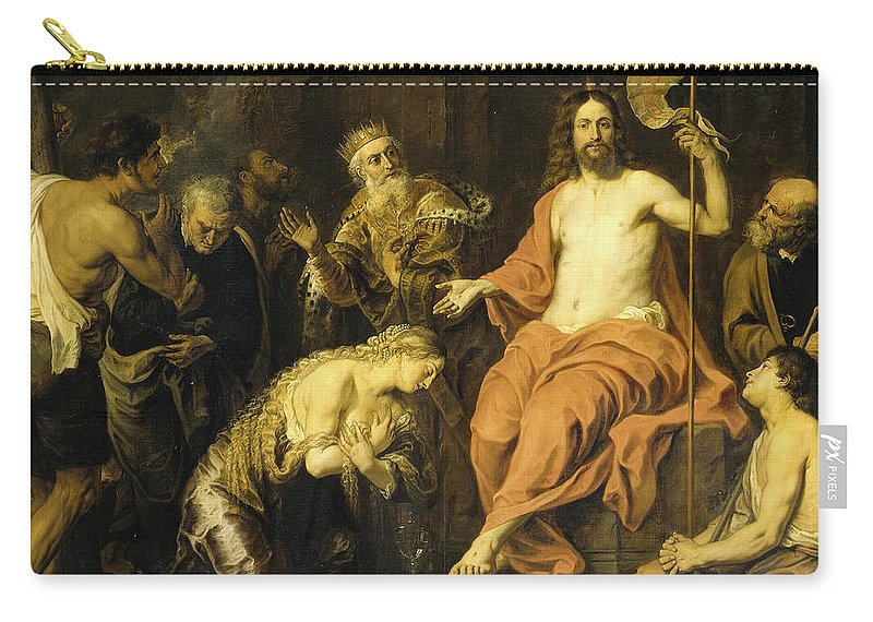 Gerard Seghers Carry-all Pouch featuring the painting Christ And The Penitent Sinners by Gerard Seghers
