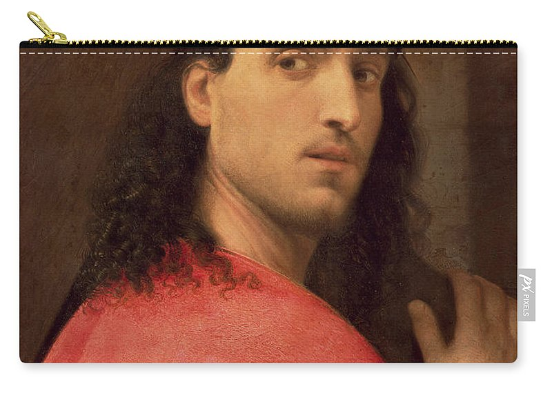 Christ Carry-all Pouch featuring the painting Christ Carrying The Cross by Italian School