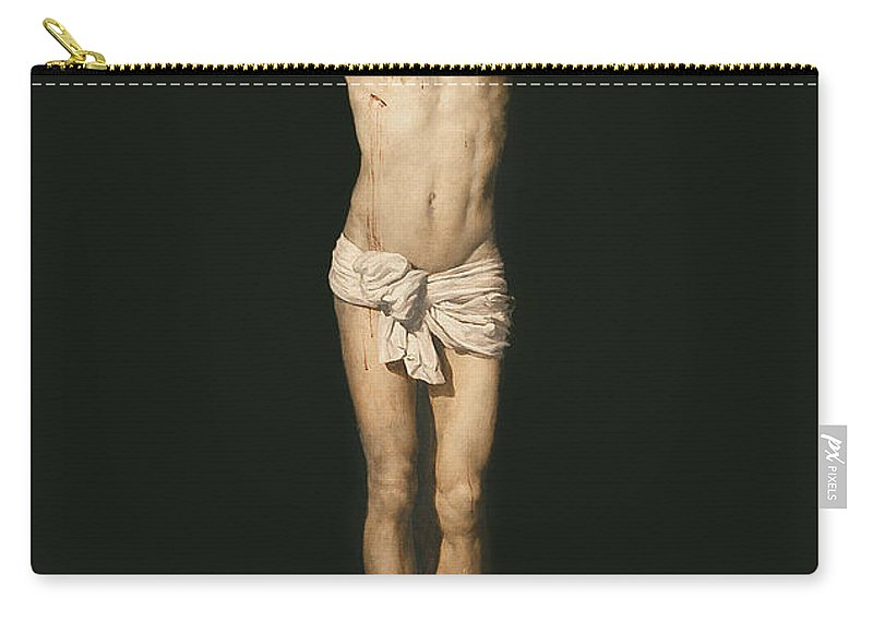 Son Of God Carry-all Pouch featuring the painting Christ On The Cross by Diego Velasquez