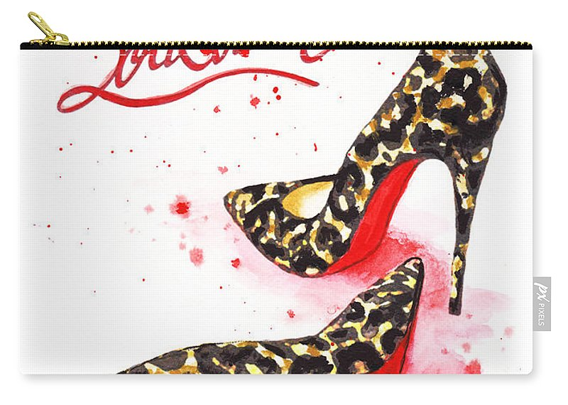 97bd6df1ec7b Christian Louboutin Carry-all Pouch featuring the painting Christian  Louboutin Shoes Print by Del Art