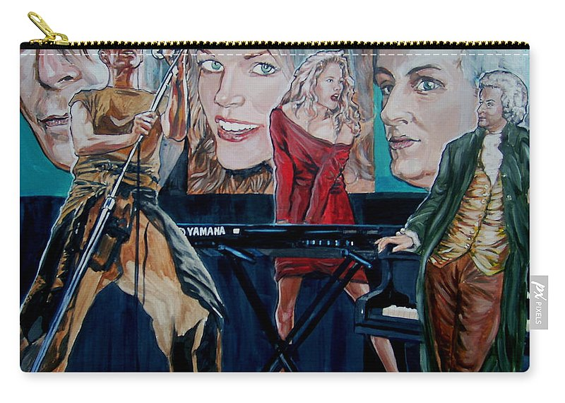 Christine Anderson Carry-all Pouch featuring the painting Christine Anderson Concert Fantasy by Bryan Bustard