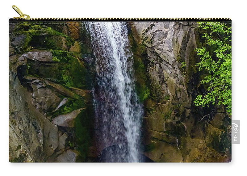 Christine Falls Carry-all Pouch featuring the photograph Christine Falls Mt Rainier by Greg Reed