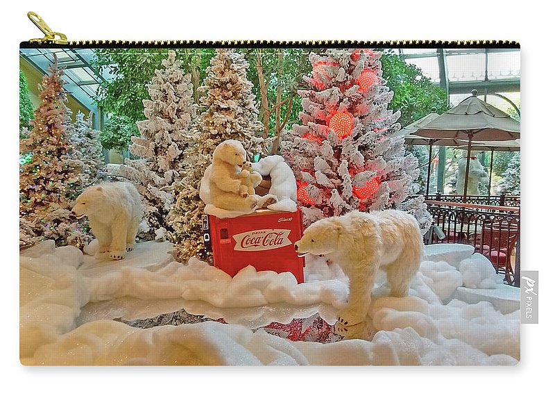 Photography Carry-all Pouch featuring the photograph Christmas Bears by Marian Bell