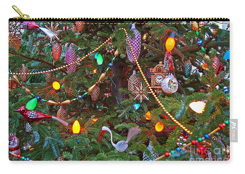 Christmas Carry-all Pouch featuring the photograph Christmas Bling #2 by Rich Walter
