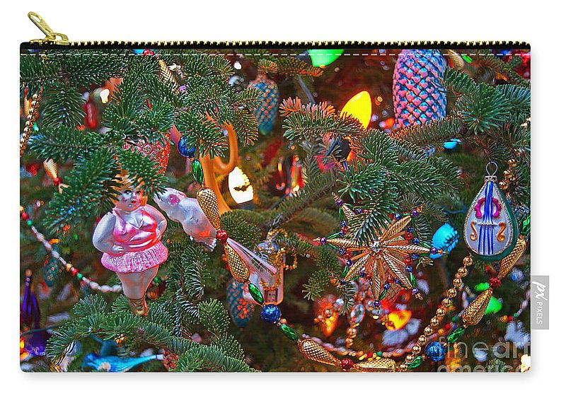 Christmas Carry-all Pouch featuring the photograph Christmas Bling #4 by Rich Walter