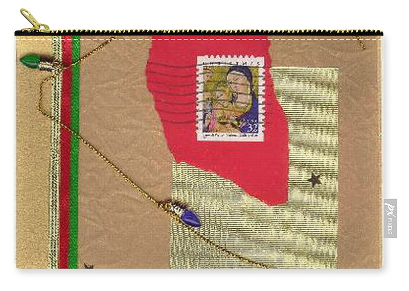 Christmas Carry-all Pouch featuring the mixed media Christmas Card by Steve Karol