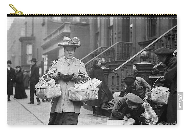1908 Carry-all Pouch featuring the photograph Christmas Dinner, 1908 by Granger