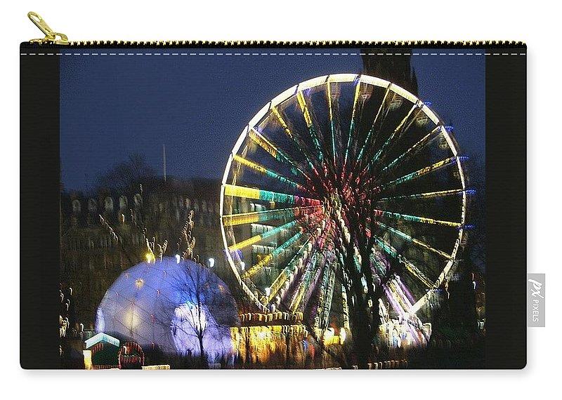 Edinbugh Carry-all Pouch featuring the photograph Christmas Fair Scotland by Heather Lennox