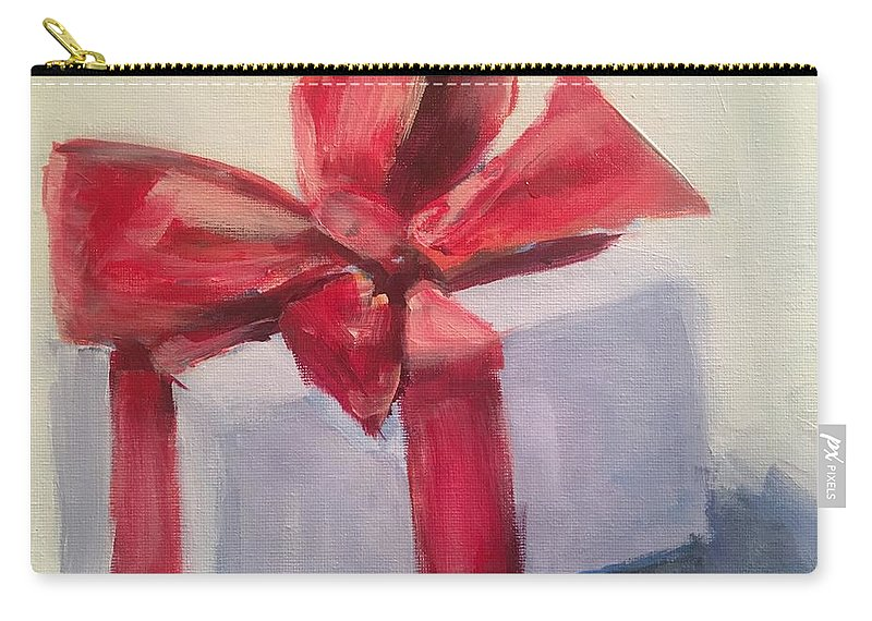 Christmas Carry-all Pouch featuring the painting Christmas Gift by Susan Elizabeth Jones