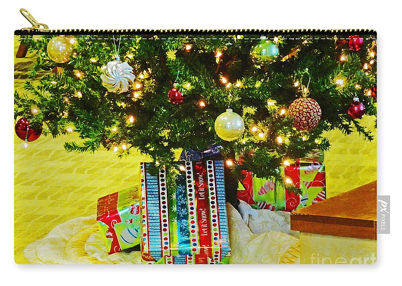 Christmas Carry-all Pouch featuring the photograph Christmas Holiday Tree by Don Baker