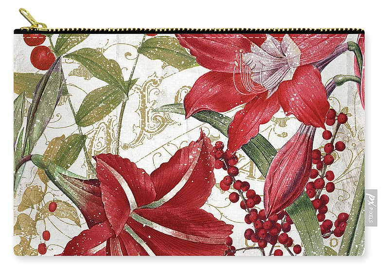 Christmas Carry-all Pouch featuring the painting Christmas In Paris I by Mindy Sommers