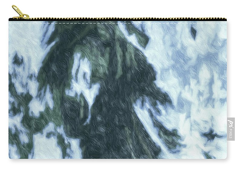 Horse Carry-all Pouch featuring the photograph Christmas In Tesuque by Terry Fiala