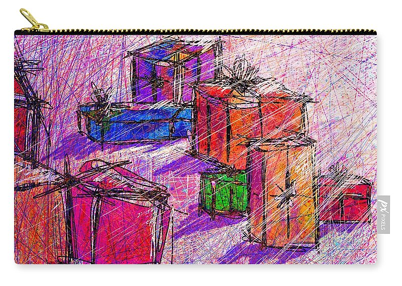 Christmas Carry-all Pouch featuring the digital art Christmas Morning by Rachel Christine Nowicki
