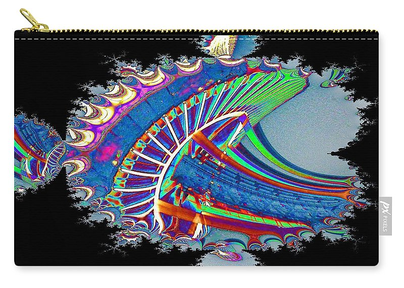 Seattle Carry-all Pouch featuring the digital art Christmas Needle In Fractal by Tim Allen