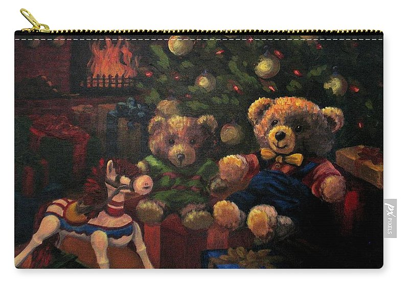 Christmas Carry-all Pouch featuring the painting Christmas Past by Karen Ilari