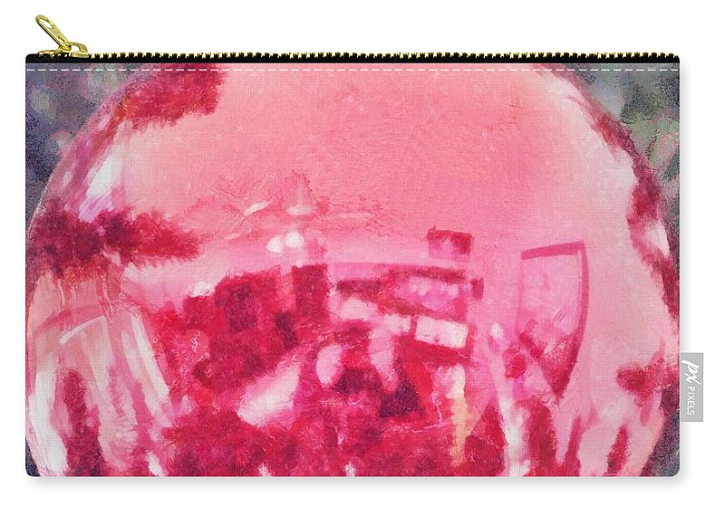 Christmas Carry-all Pouch featuring the painting Christmas Reflected by Jeffrey Kolker