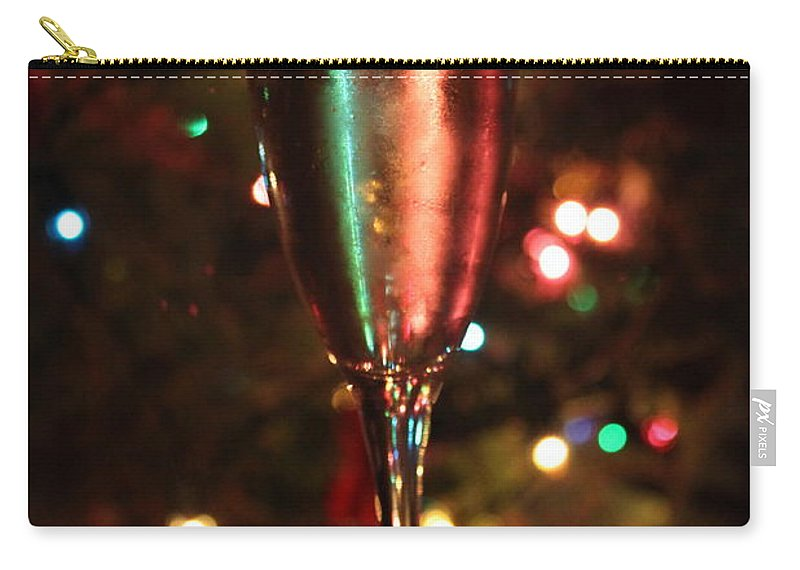 Champagne Carry-all Pouch featuring the photograph Christmas Toast by Lauri Novak
