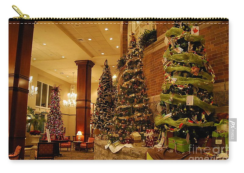 Christmas Carry-all Pouch featuring the photograph Christmas Tree by Eric Liller