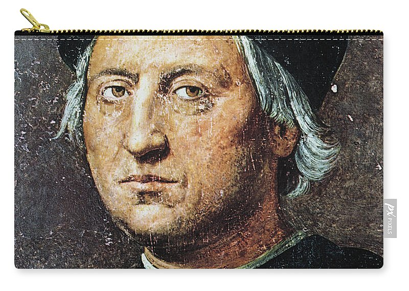 15th Century Carry-all Pouch featuring the painting Christopher Columbus by Granger