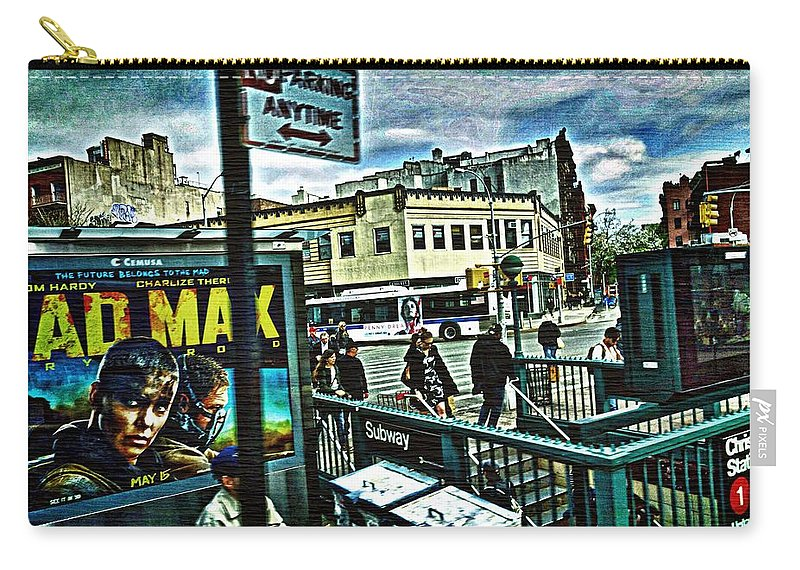 Greenwich Village Street Scene Carry-all Pouch featuring the photograph Christopher Street Greenwich Village by Joan Reese