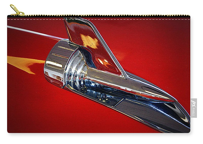 Car Carry-all Pouch featuring the photograph Chrome by Cricket Hackmann