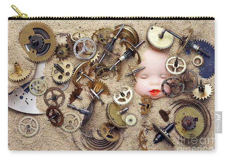 Time Carry-all Pouch featuring the photograph Chronos - God Of Time by Michal Boubin