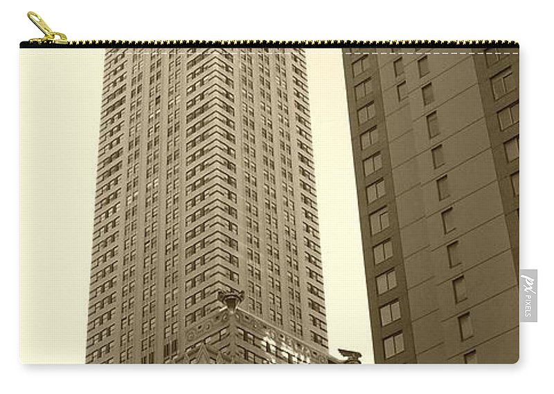 New York Carry-all Pouch featuring the photograph Chrysler Building by Debbi Granruth