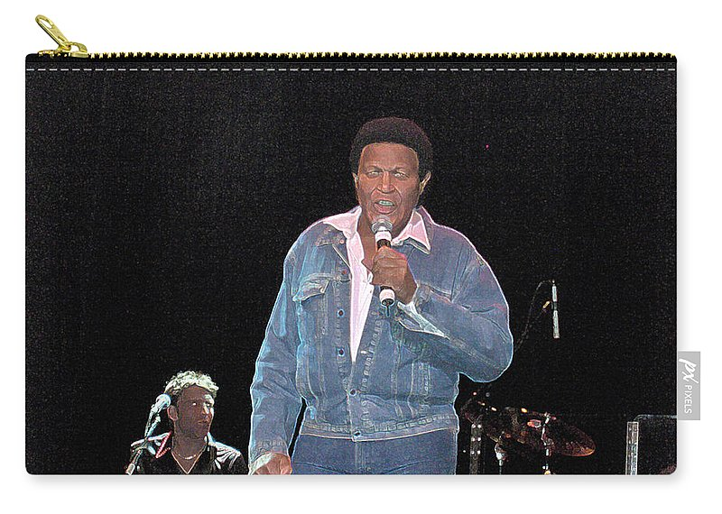 Chubby Checker Singer Bands Music Blues Dance Star Concert Carry-all Pouch featuring the photograph Chubby Checker by Andrea Lawrence
