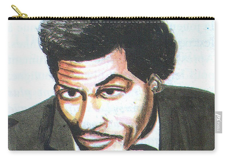 Music Carry-all Pouch featuring the painting Chuck Berry 45 by Emmanuel Baliyanga