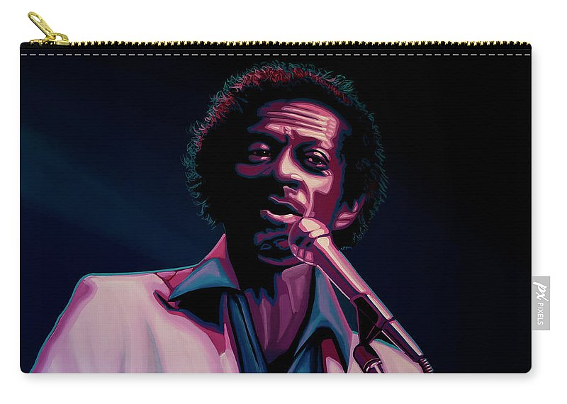 Chuck Berry Carry-all Pouch featuring the painting Chuck Berry by Paul Meijering