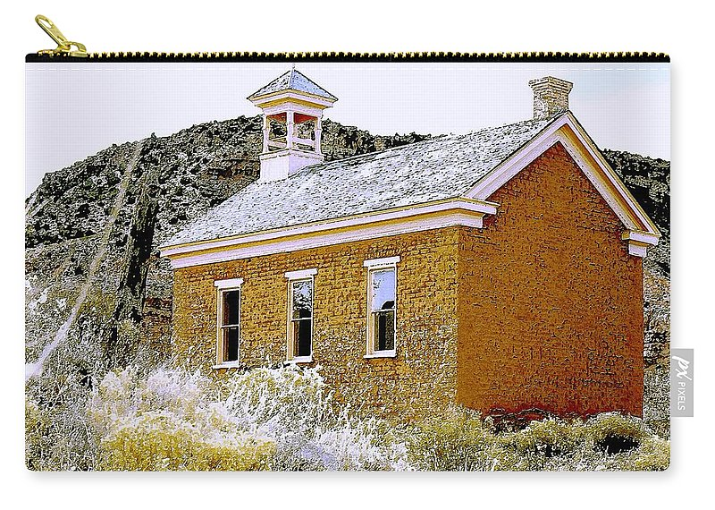 Church Carry-all Pouch featuring the photograph Church - Grafton Utah by Nelson Strong