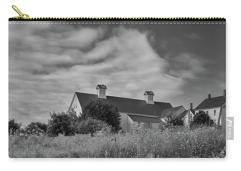 Grange Carry-all Pouch featuring the photograph Church Hill Road Barn by Guy Whiteley