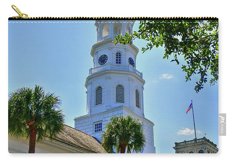 Church Carry-all Pouch featuring the photograph Church In Charleston by TJ Baccari