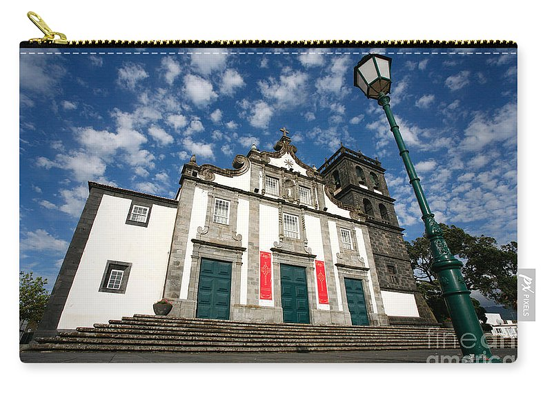Catholic Carry-all Pouch featuring the photograph Church In Ribeira Grande by Gaspar Avila