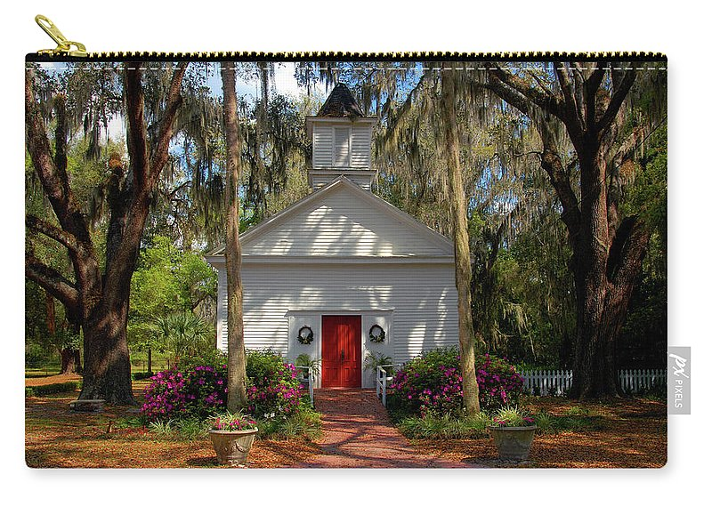Fine Art Photography Carry-all Pouch featuring the photograph Church In Spring by David Lee Thompson