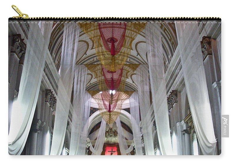 Church Carry-all Pouch featuring the photograph Church Interior 1 Guatemala by Douglas Barnett